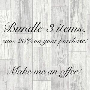 Bundle & save! Make an offer!🖤